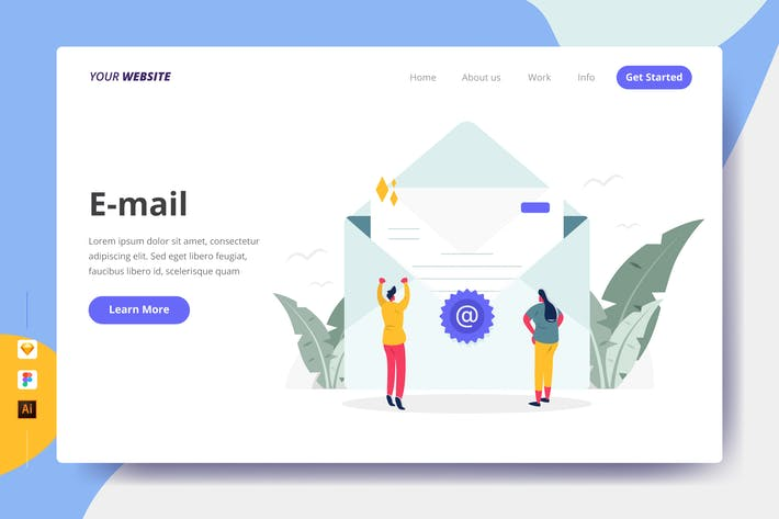 Thumbnail for E-mail - Landing Page