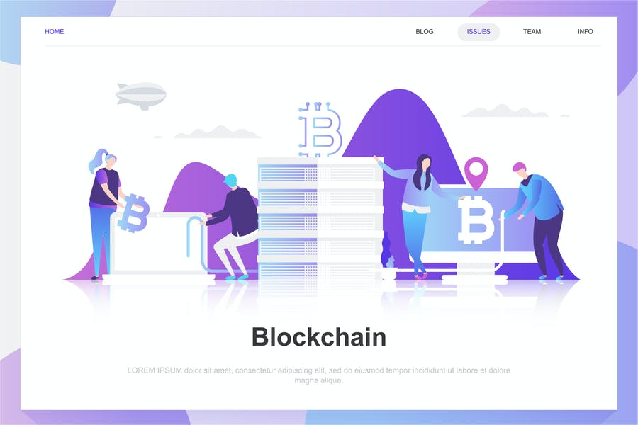 Blockchain Flat Concept