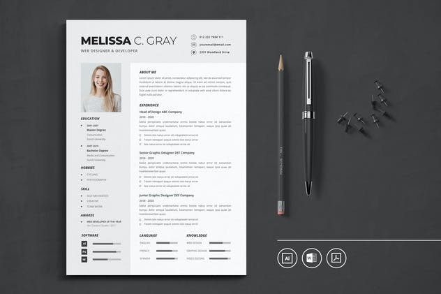 CV Resume Vol.20