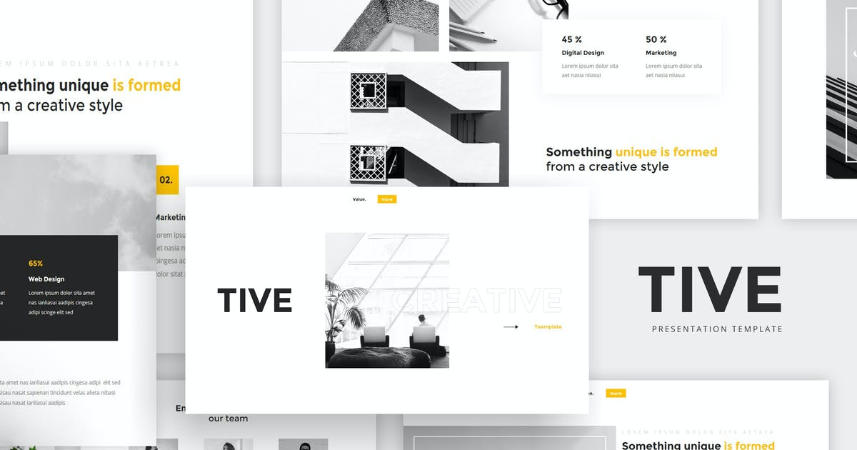 Download Tive - Creative Presentation by graptailstudio