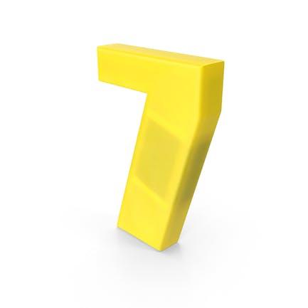 Imán para nevera número 7