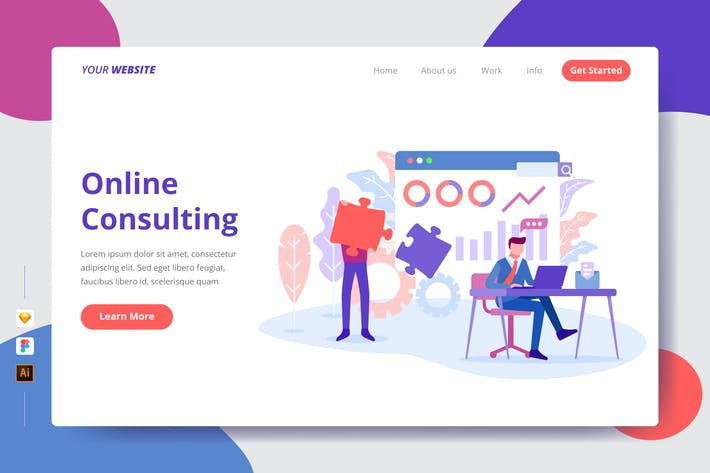 Thumbnail for Online Consulting - Landing Page