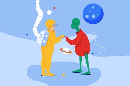 Außerirdische treffen