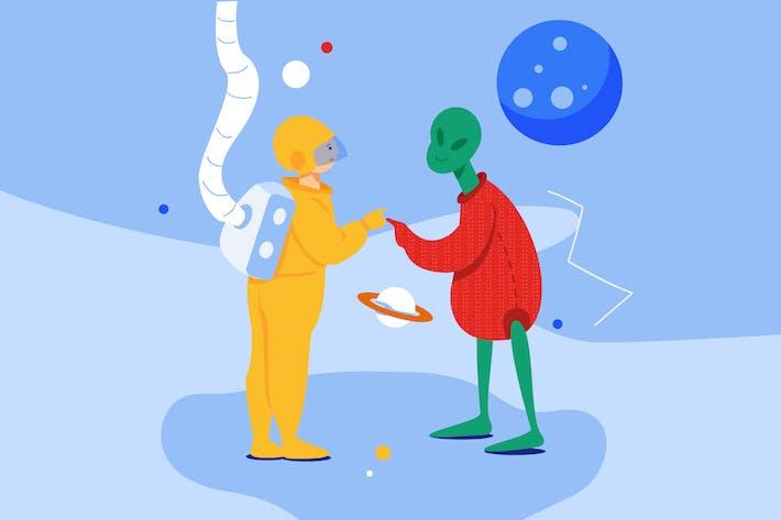 Thumbnail for Außerirdische treffen
