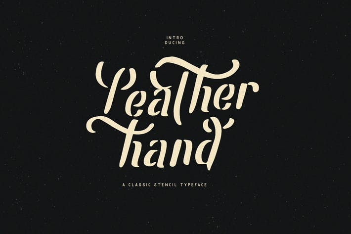 Thumbnail for Leatherhand Stencil Fonts