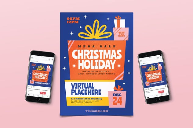 Christmas Holiday Flyer Pack