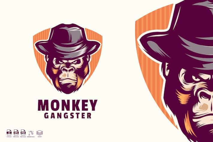 Monkey Gangster Logo template