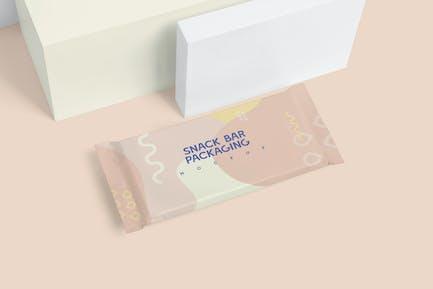 Foil Paper Snack Bar Packaging Mockups