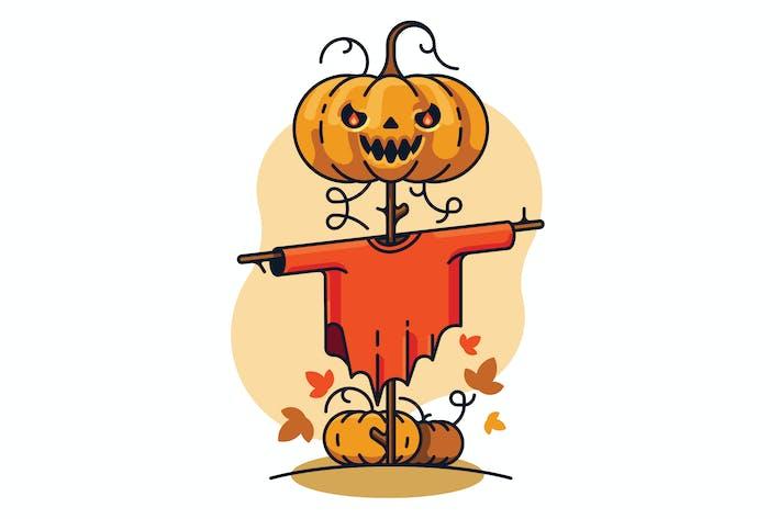 Thumbnail for Scarecrow Kürbis Illustration