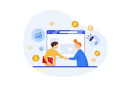 Affiliate Marketing concept - Digital Marketing