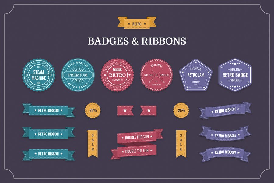 Retro-Badges-&-Ribbons