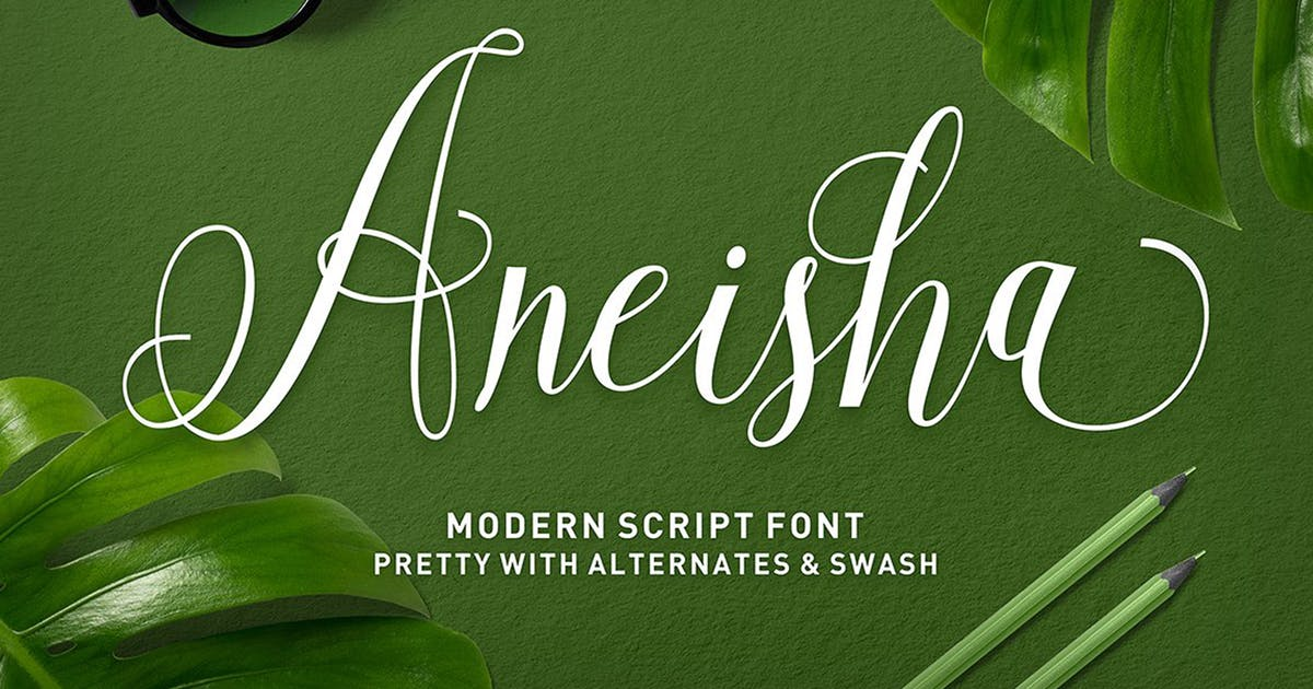 Aneisha Script by Solidtype