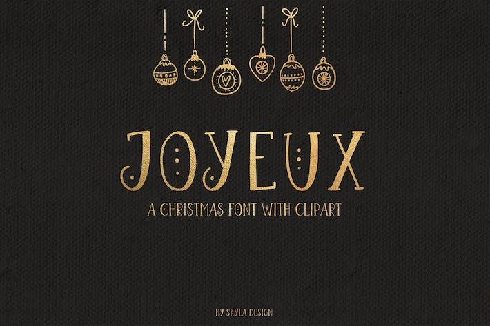 Thumbnail for Joyeux Christmas font & clipart