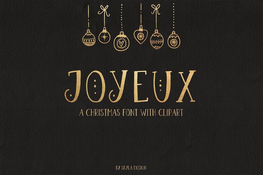 Joyeux Christmas font & clipart