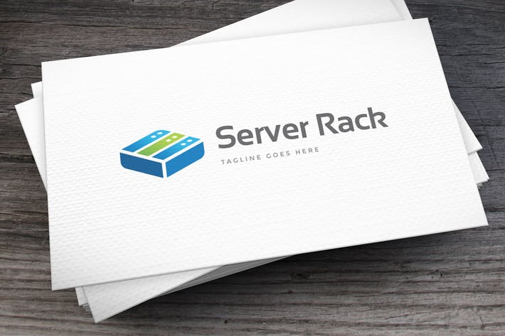 Thumbnail for Server Rack Logo Template
