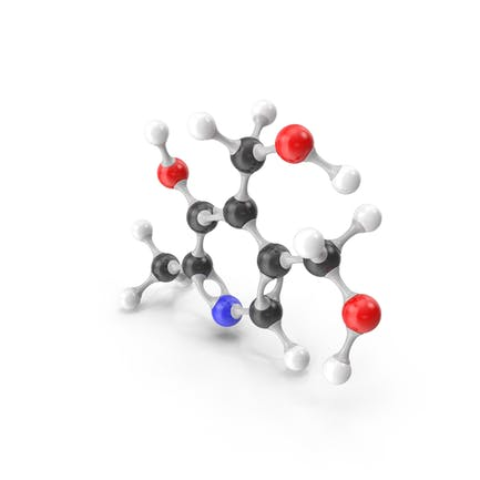 Pyridoxine (Vitamin B6) Molecular Model