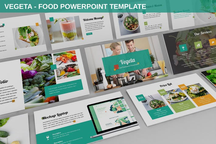 Thumbnail for Vegeta - Food Powerpoint Template