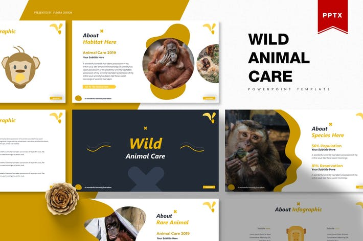 Thumbnail for Wild Animal Care | Powerpoint Template
