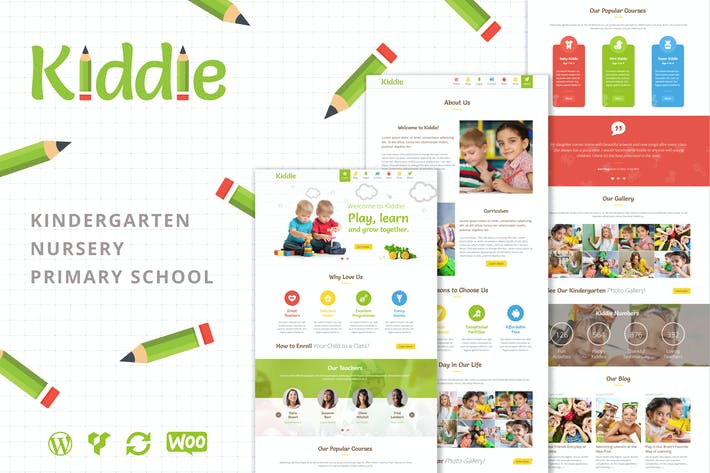 Thumbnail for Kiddie - Kindergarten WordPress Theme