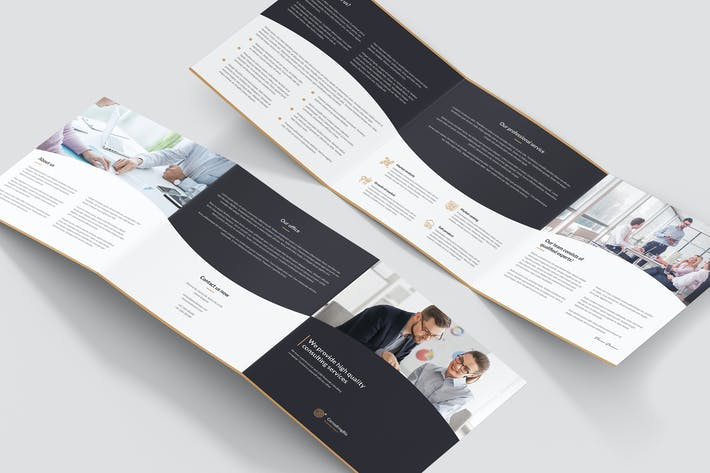 Thumbnail for Brochure – Business Consulting Tri-Fold Square
