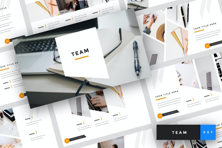 Thumbnail for Team - Business Keynote Template