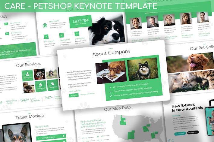 Thumbnail for Уход - Шаблон Keynote PetShop