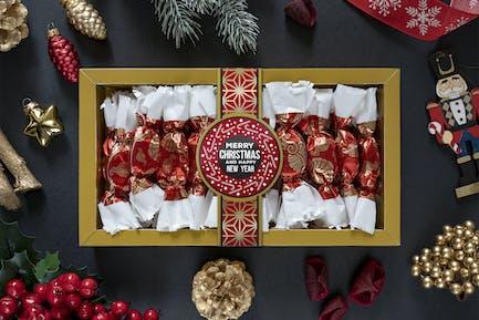 Christmas sweets mockup