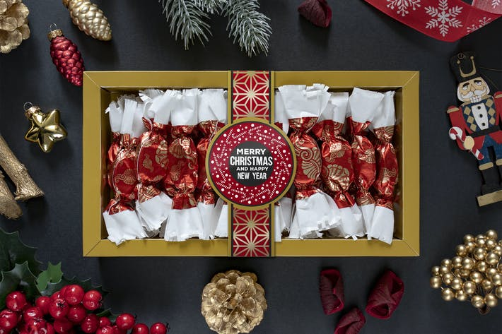 Cover Image For Christmas sweets mockup