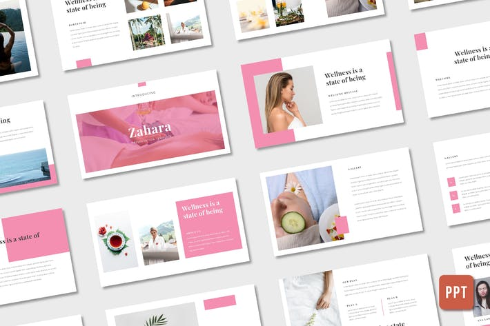 Cover Image For Zahara - Spa, Wellness (Powerpoint)
