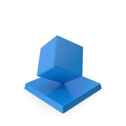 Cube Trophy Blau