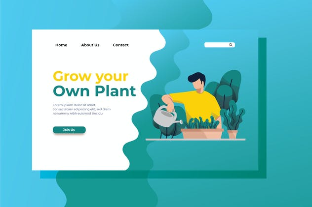 Grow your Own Plant Landing Page Illustration