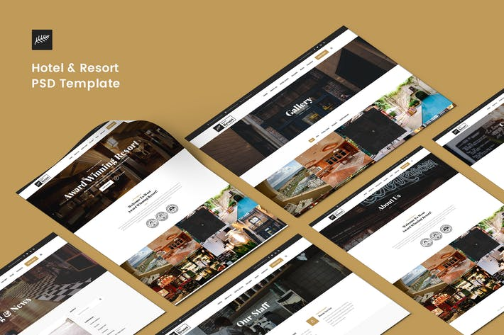 Thumbnail for Hotel & Resort PSD Template