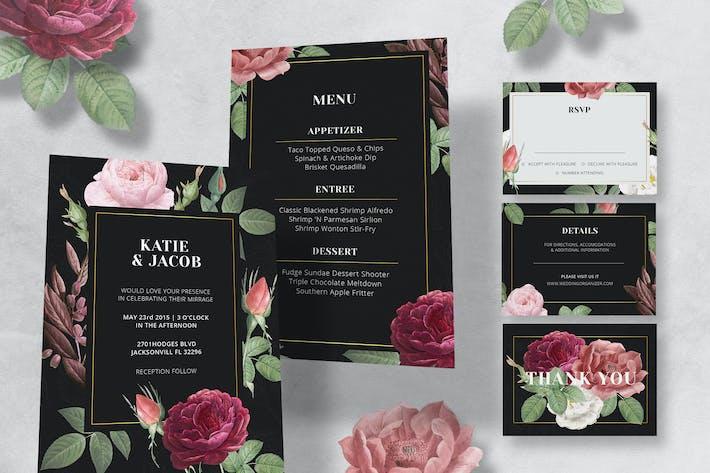Thumbnail for Rose Wedding Invitation Set