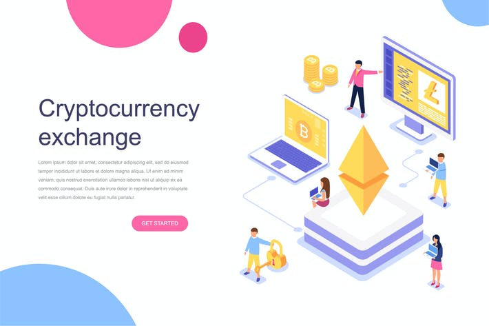 Thumbnail for Cryptocurrency Exchange Isometric Concept