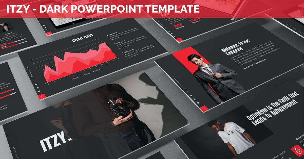 Download Itzy - Dark Powerpoint Template by SlideFactory