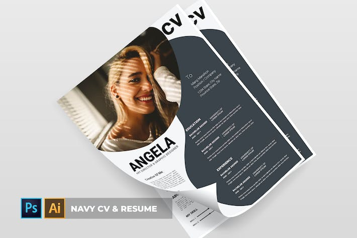 Thumbnail for Navy | CV & Resume
