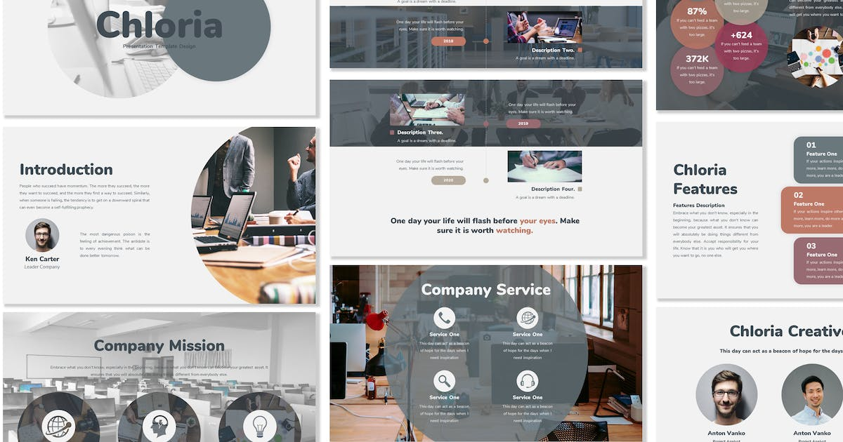 Chloria - Business Powerpoint Template by Blesstudio