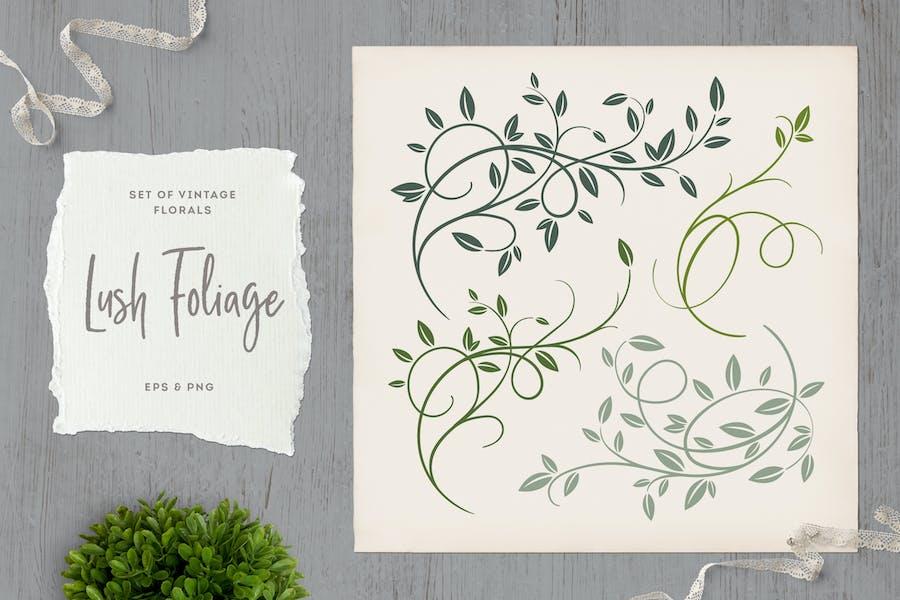 Lush Foliage Vintage Florals