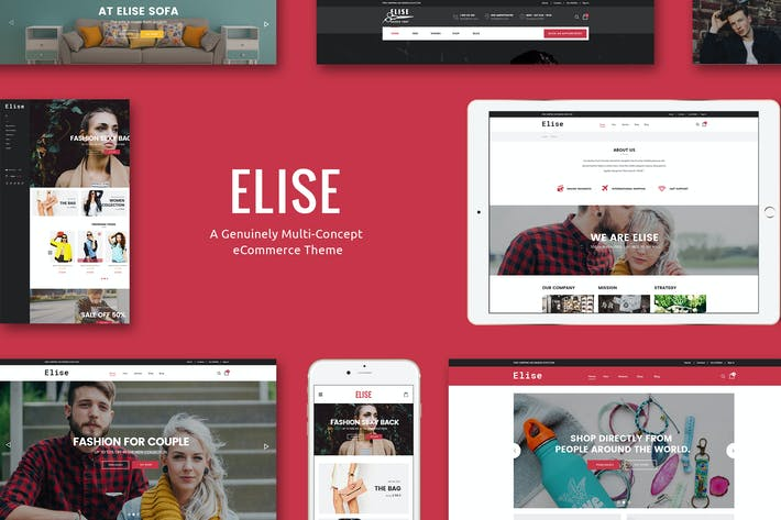 Thumbnail for Elise - A Genuinely Multi-Concept Shopify Theme