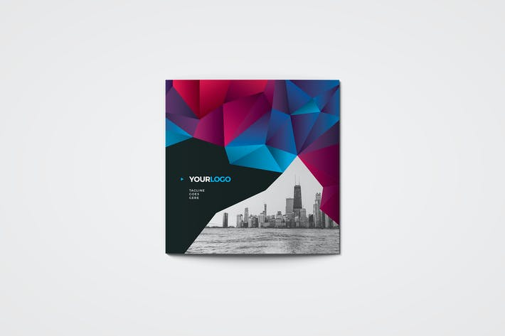 Thumbnail for Square Cool Modern Trifold