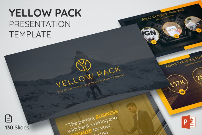 Thumbnail for Yellow Pack - Presentation Template