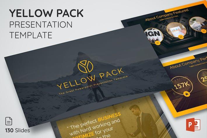 Thumbnail for Желтая упаковка - Шаблон презентации