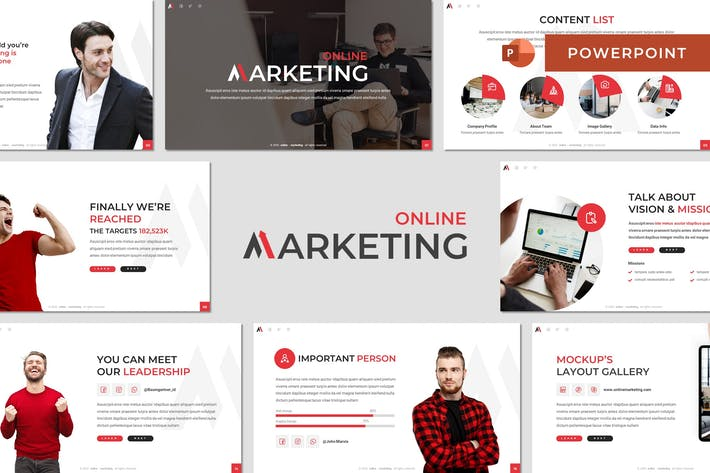 Thumbnail for Маркетинг - Бизнес Powerpoint Шаблон