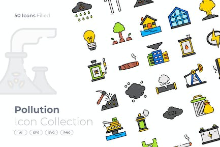 Pollution Filled Icon