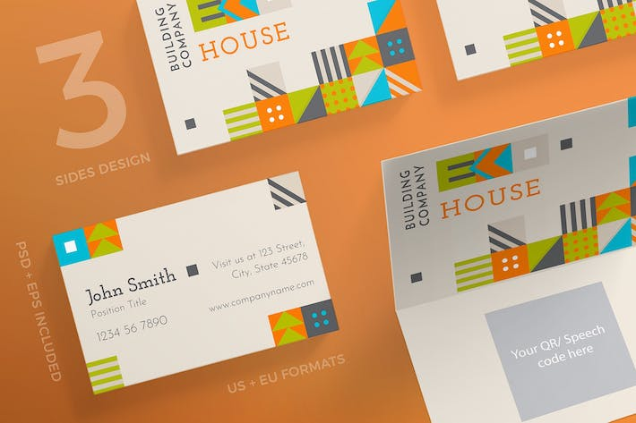 Thumbnail for Eco House Business Card Template