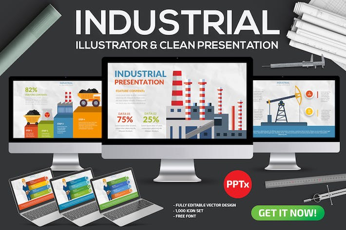 Thumbnail for Industrial Powerpoint Template