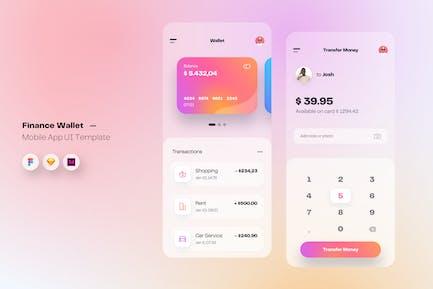 Wallet & Finance Mobile App UI Kit Template