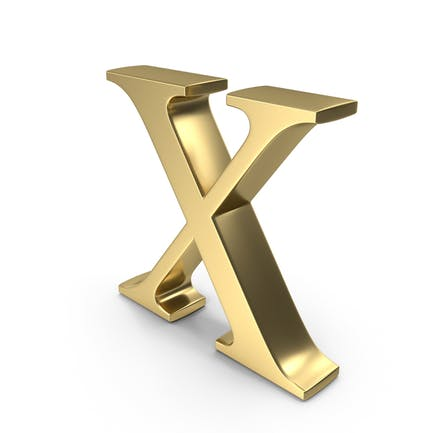 Alphabet Time's Roman X