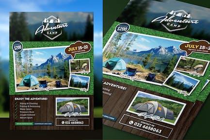 Camping Abenteuer Flyer