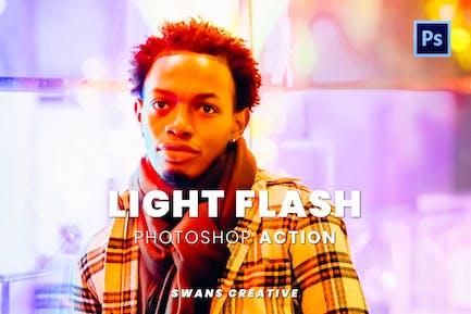 Light Flash Photoshop Action